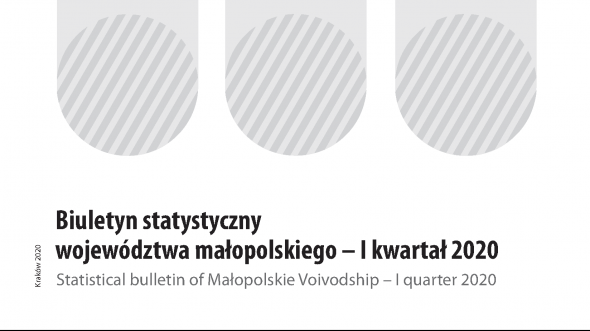 Statistical Bulletin of Malopolskie Voivodship - I quarter 2020